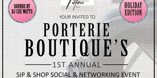 Holiday Sip & Shop Social & Networking Event