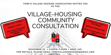 York's Village Housing & Community Consultation tickets
