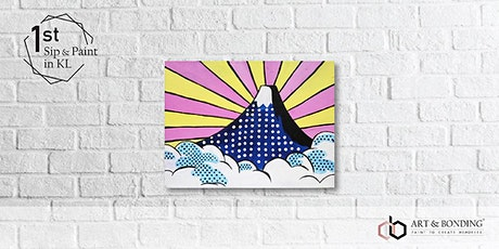 Sunday Sip & Paint : Mount Fuji Pop Art tickets
