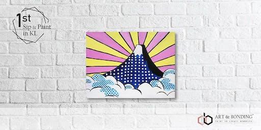 Sunday Sip & Paint : Mount Fuji Pop Art