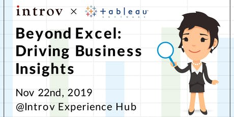 Tableau Workshop: Beyond Excel: Driving Business Insights tickets