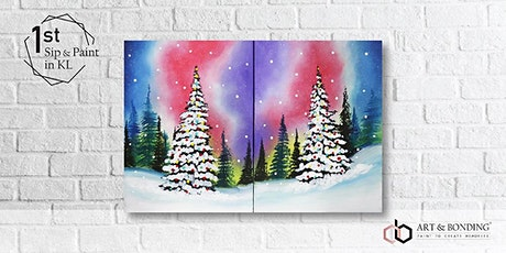 Sunday Sip & Paint : Jigsaw Puzzle Painting - Galaxy Christmas tickets