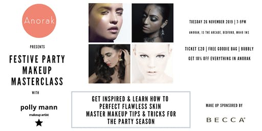 Makeup Masterclass for the festive season with Polly Mann Make Up Artist