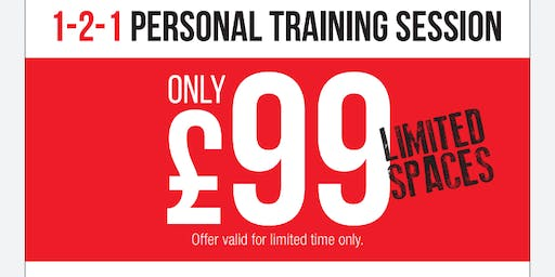 Get it for £99 (1-2-1 Personal Training with SLR Fitness)