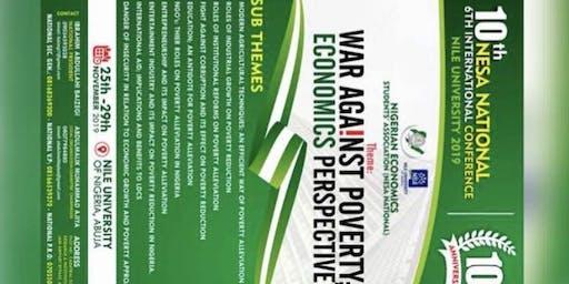 NIGERIAN ECONOMICS STUDENTS ASSOCIATION 10th NATIONAL/INTERNATI CONFERENCE