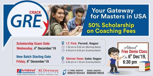 Join GRE Coaching at Krishna Consultants Nagpur   - 6th Dec'19
