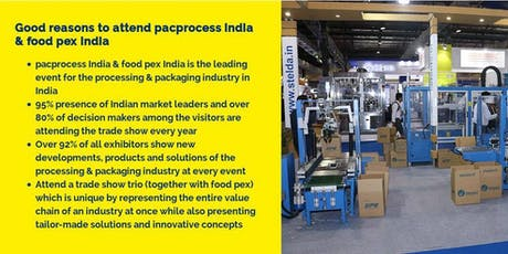 pacprocess & food pex India 2019 tickets