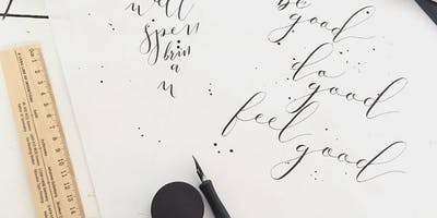 Plymouth College of Art - 10 Week Introduction to Modern Calligraphy (Jan 2020)