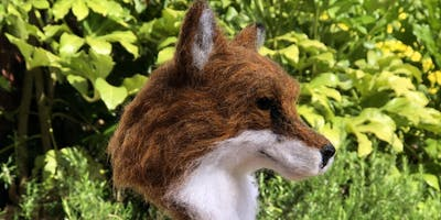 Needle felt hare head or fox head Day 2