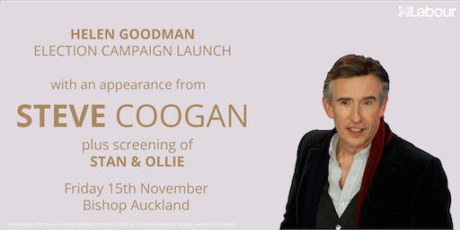 Helen Goodman General Election Campaign Launch with Steve Coogan