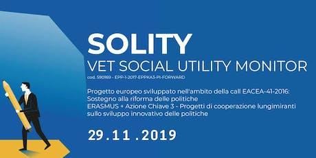 IMPATTO DELLA FORMAZIONE PROFESSIONALE NELLO SVILUPPO INDIVIDUALE E SOCIALE DELLE PERSONE - Multiplier Event Progetto SOLITY biglietti