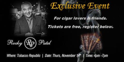 Free Exclusive Cigar Event with Rocky Patel (Sacramento area)