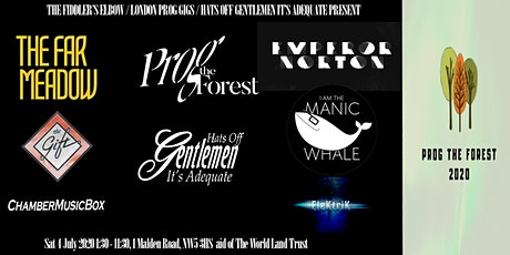 Prog The Forest 2020 - Prog rock charity festival raising funds for the World Land Trust tickets