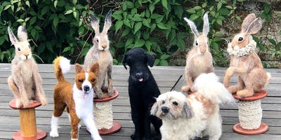 Needle Felt your own dog or hare