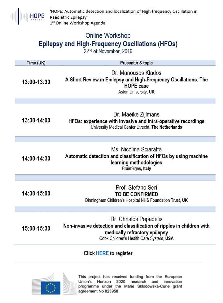 Online Workshop: Epilepsy and High Frequency Oscillations (HFOs) image