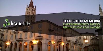 Biella: Corso gratuito di memoria