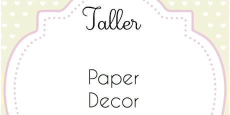 Paper Decor (Tamayo) - Donostia baby Party billets