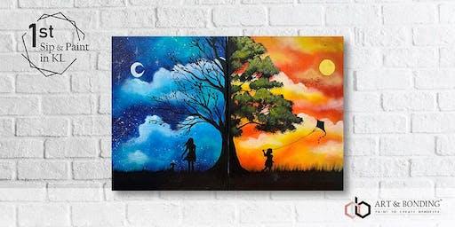 Sip & Paint Date Night : Day Night Fantasy