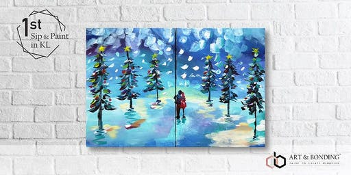 Sip & Paint Date Night : Magical Christmas Street