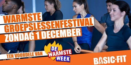 Warmste Groepslessenfestival @Basic-Fit Gent Watersportbaan