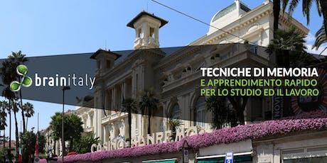 Sanremo: Corso gratuito di memoria biglietti