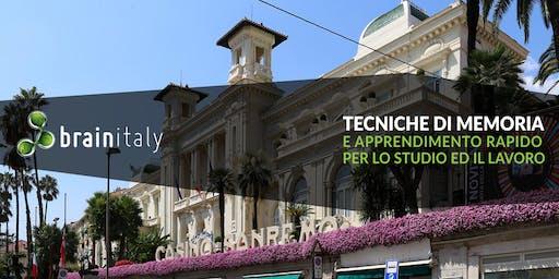 Sanremo: Corso gratuito di memoria
