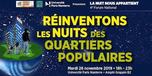 4ème Forum national : « Réinventons les Nuits des Quartiers Populaires »