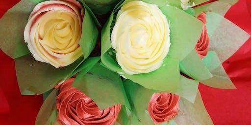Cupcake Bouquet Decorating & Wine
