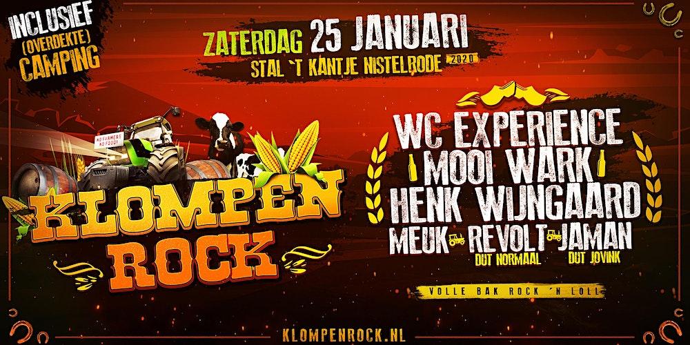 Klompenrock Tickets Zat 25 Jan 2020 Om 1900 Eventbrite