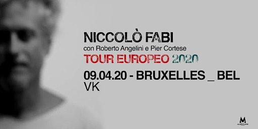 Niccolò Fabi - European Tour 2020