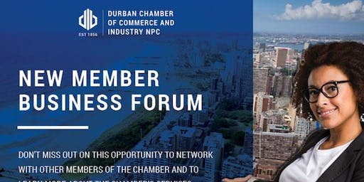 New Member Business Forum - 28 November 2019