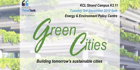 Green Cities: Building tomorrow's sustainable cities tickets