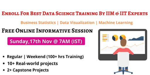 Enroll For Free Interactive Webinar Session On Data Science 17th Nov @ 7 AM