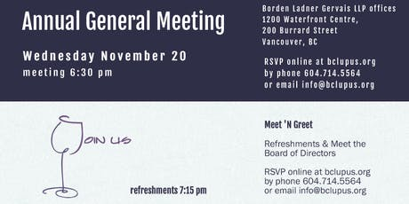BC Lupus Society Annual General Meeting 2019 tickets