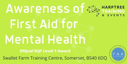 Level 1 Awareness of First Aid for Mental Health Award