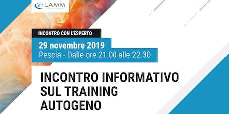 Incontro Informativo sul Training Autogeno biglietti