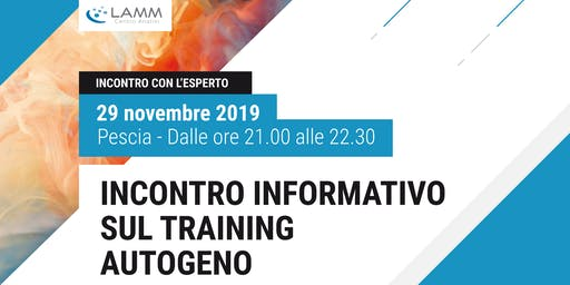 Incontro Informativo sul Training Autogeno
