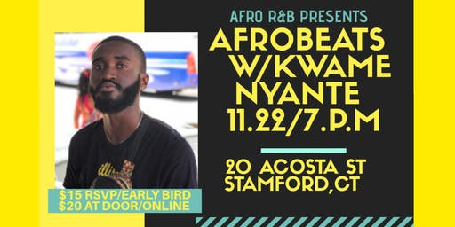 Afro  R&B Presents: Afrobeats Dance Beginners workshop w/ Kwame