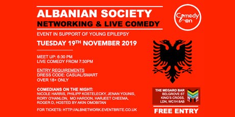 Free Albanian Networking & Comedy tickets