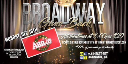 Broadway Gives Back - Annie