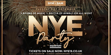 This & That - NYE @ Club Aquarium - 9pm to 9am tickets