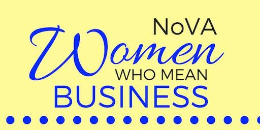 NOVA Women Who Mean Business Networking Event - Nov 22 2019