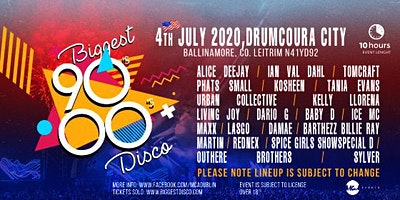 Biggest 90s - 00s disco festival Drumcoura city