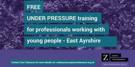 Under Pressure Training for Youth Workers - East Ayrshire tickets