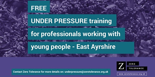 Under Pressure Training for Youth Workers - East Ayrshire