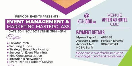 Event Management Masterclass tickets