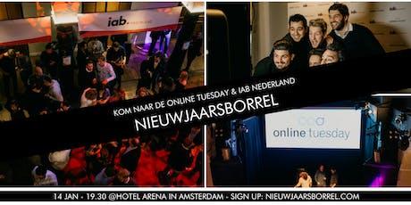Online Tuesday en IAB Nederland Nieuwjaarsborrel tickets