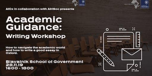Academic Guidance: Writing Workshop