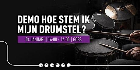 Demo 'Hoe stem ik mijn drumstel?' tickets