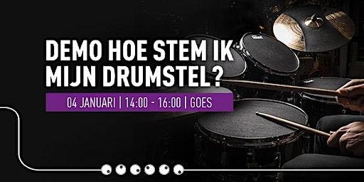 Demo 'Hoe stem ik mijn drumstel?'